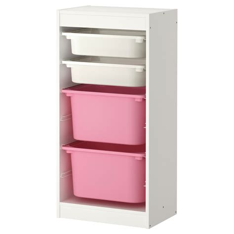 children s storage units combinations ikea trofast storage combination with boxes white pink 46x30x94