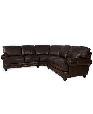 Wyatt Leather Wedge Corner Sectional Sofa Refil Sofa Wyatt Sectional Sofa