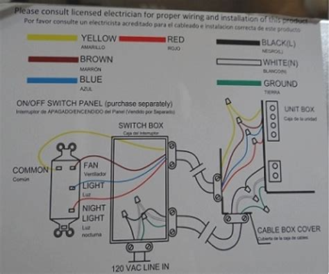hton bay ceiling fan wiring diagram fuse box and