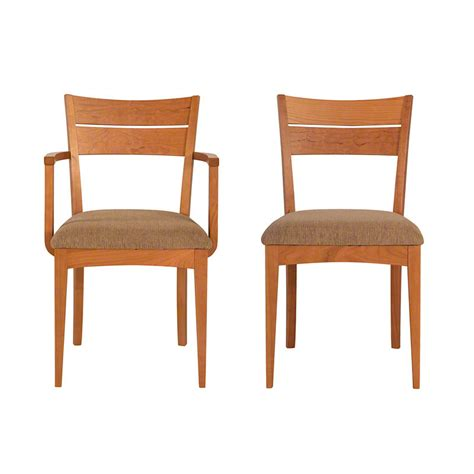 Moving Dining Room Chairs On Carpet Lowell Dining Kitchen Chair Organic Solid Cherry