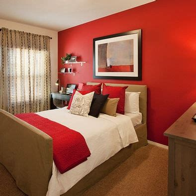 red walls bedroom red accent wall in bedroom large and beautiful photos