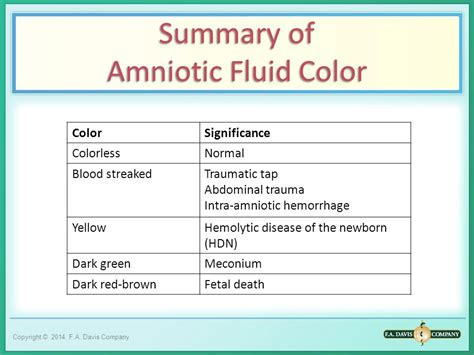 amniotic fluid chapter ppt