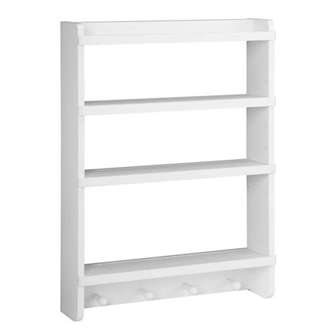 narrow wall rack white the land of nod
