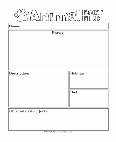 Fact File Template Word