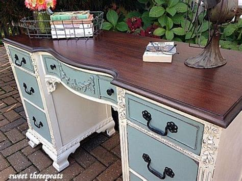 desk painting ideas antique two toned desk painted furniture pinterest