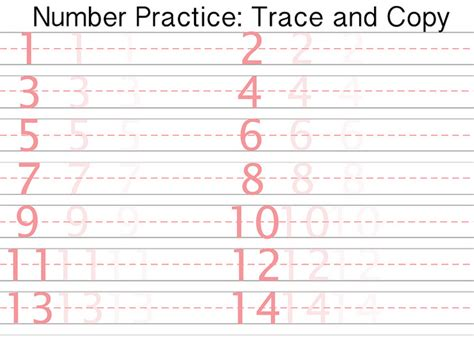 for writing numbers in papers free printable number writing practice printable