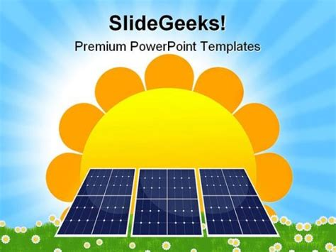 solar panel geographical powerpoint templates and