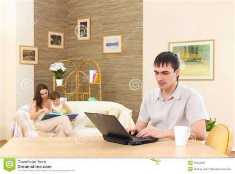 working at home stock image image 26456361