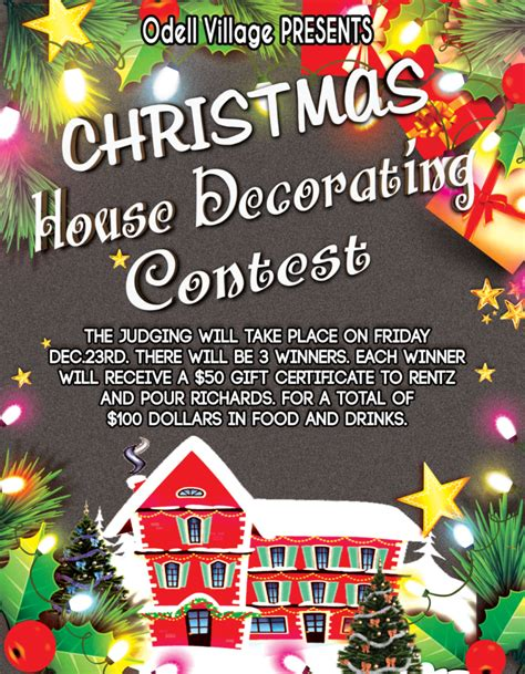 christmas contest voting flyer odell 2016 contest of odell illinois