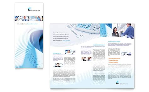 accounting flyer templates accounting firm tri fold brochure template design