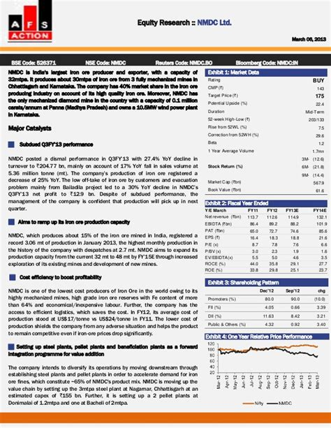 equity research report sle an equity research report on nmdc ltd by financial