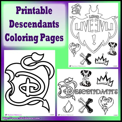 coloring pages for disney descendants free disney descendants coloring pages skgaleana