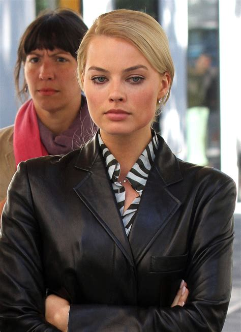 emma stone wolf of wall street more pics of margot robbie leather coat 1 of 4 margot