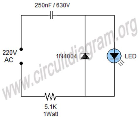led diode na 220v simple 220v mains indicator led circuit diagram eletronica circuit diagram
