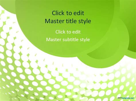 green presentation template free green groove ppt template