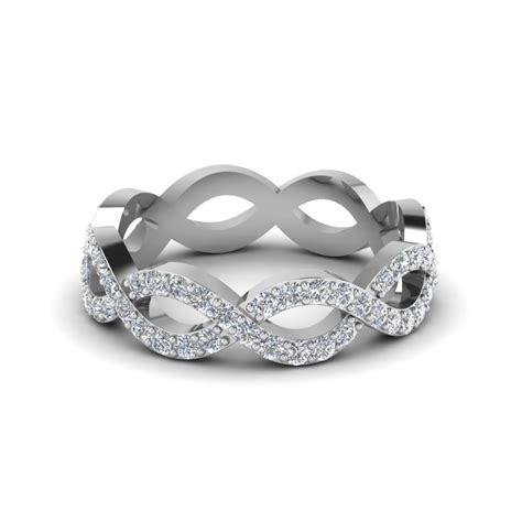 Infinity Twist Diamond Eternity Anniversary Ring Gifts In