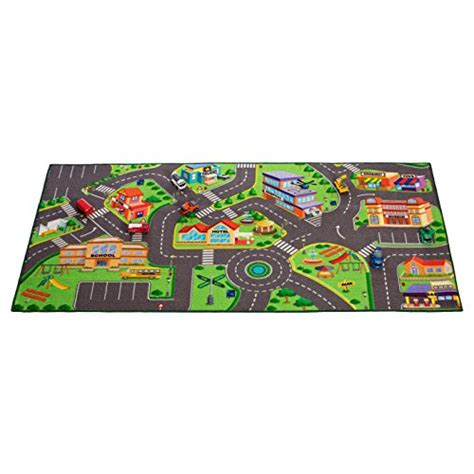 community play rug for matchbox cars 36 x 72 inches home