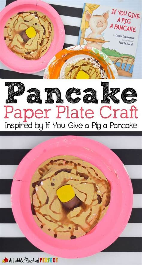 Paper Plate Craft Book - pancake paper plate craft inspired by if you give a pig a