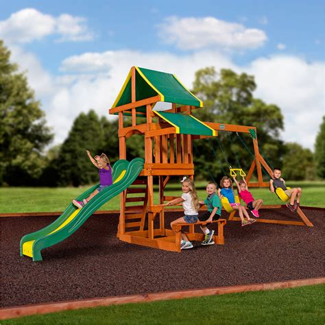 swing set backyard discovery weston cedar swing set walmart