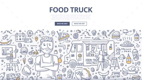 coq a doodle do food truck menu food truck doodle concept by koctia graphicriver