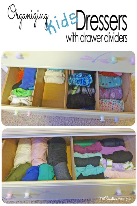 organizing drawers with dividers onecreativemommy