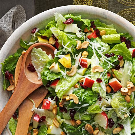 salad recipe holiday lettuce salad recipe taste of home