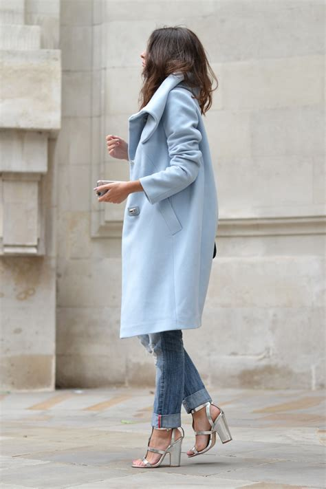 light blue winter coat how to wear winter pastels ideas just the design