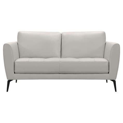 dove grey leather sofa home decorators collection gordon black leather sofa