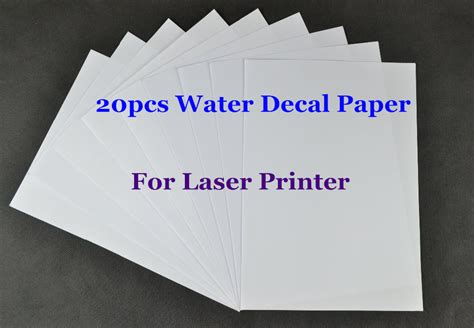 water slide decal paper staples water slide decal paper 20pcs lot a4 clear transparent paper water slide decal