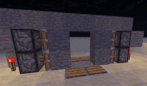 Piston Door by Redstone Tutorial 2 Simple Piston Door Minecraft