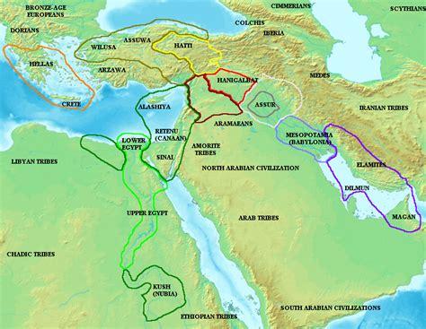middle east map fertile crescent linear population model november 2010