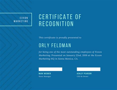 simple pattern recognition recognition certificate templates canva