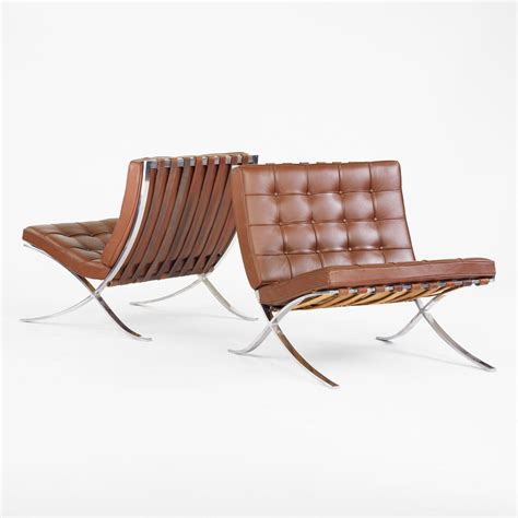 barcelona chair original design ludwig mies der rohe barcelona chairs pair