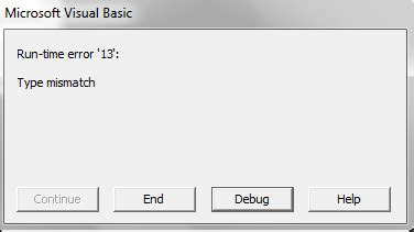 coding information that pertains to an entire section windows 7 type mismatching vb6 error handling stack