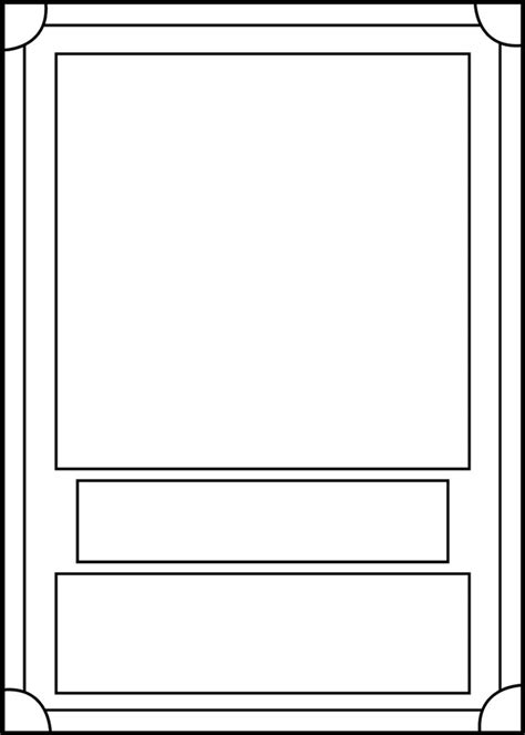 tcg card template ideas trading card template 6 8th grade card