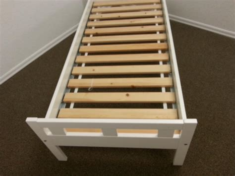 Side Rails For Bed Frame Single White Bed Frame And Foot Boards Side Rails And Wood Slots Central Nanaimo Nanaimo