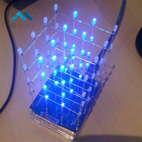 Aliexpress Com Buy 4x4x4 Blue Led Light Cube Kit 3d Led Diy Led Light
