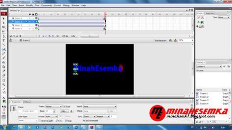 cara membuat video tutorial dengan flash cara membuat animasi teks dengan motion tween di flash