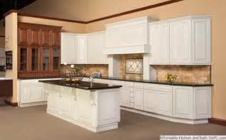 White Antiqued Kitchen Cabinets Affordable Kitchens And Cabinets Fort Myers Florida