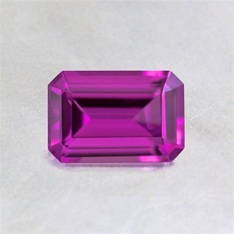 6x4mm purple emerald cut sapphire spusl6x4em3