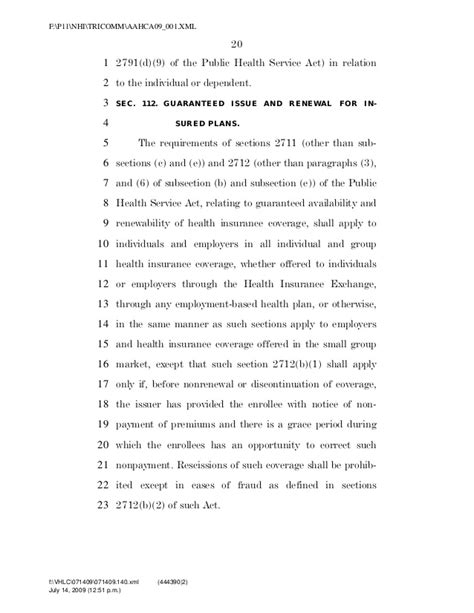 Phs Act Section 2711 by A Bill
