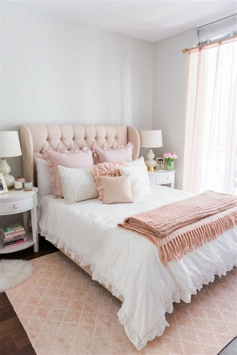 pink and white bedroom my chicago bedroom parisian chic blush pink bows