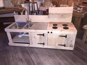 awesome Rustic Kitchen Islands With Seating #9: pallet-mud-kitchen.jpg