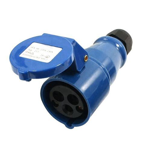 Socket 4 Pin 16 Ere waterproof iec309 2 2p e industrial socket ac 220 240v 16a f9a4