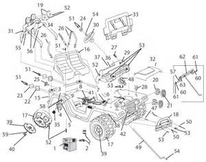 Jeep Wrangler Part Numbers Power Wheels Jeep Wrangler Parts