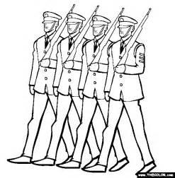 soldier coloring pages soldiers marching veterans day coloring page reading