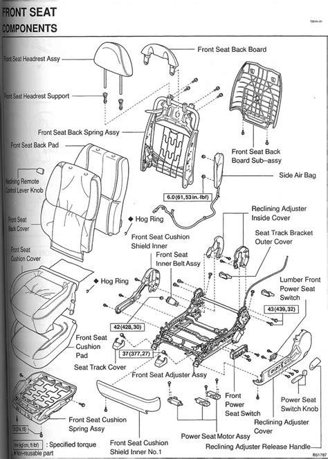 online service manuals 2001 toyota camry seat position control front seat diagram broken part club lexus forums