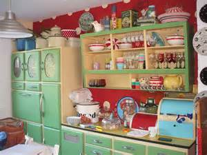 French Country Kitchen Cabinets by Retro 1950s Kitchen Cabinets In Mint Green And Red
