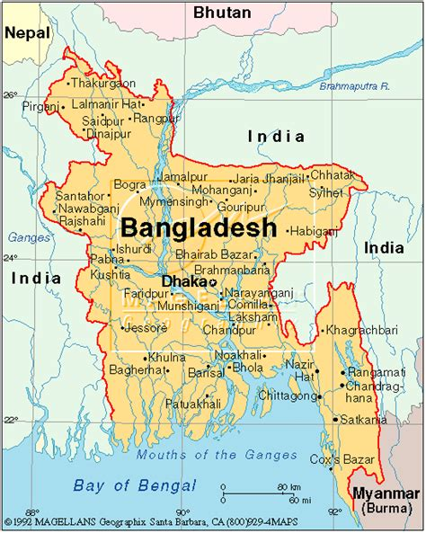 map of bangladesh