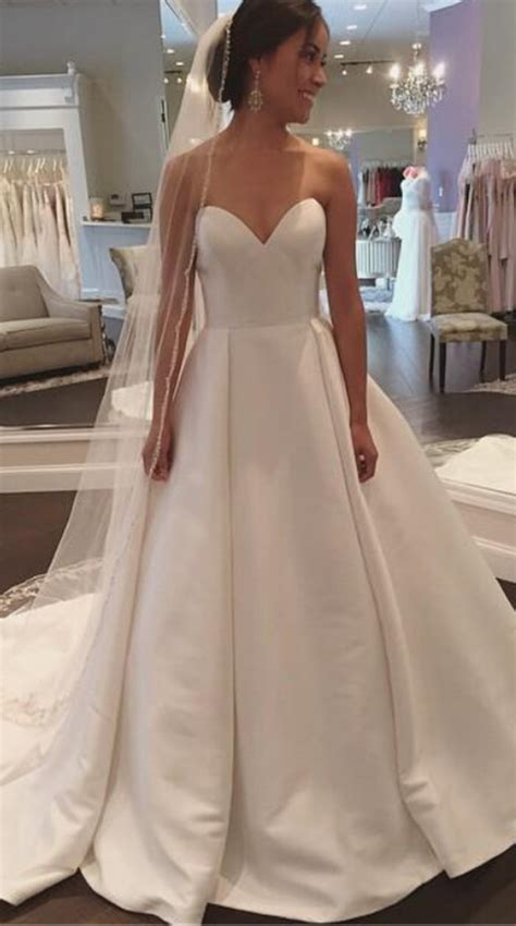 Wedding Gown Satin by Wedding Dresses Wedding Gown White Satin Wedding